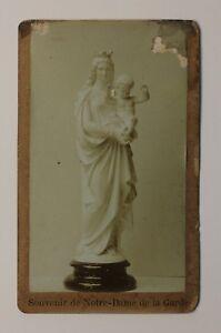 Escultura-Religiosa-Notre-Dame-de-la-Garde-Francia-CDV-Foto-Vintage-Citrato