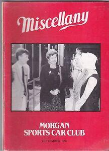 MISCELLANY-MORGAN-SPORTS-CAR-CLUB-MAGAZINE-SEPTEMBER-1994-POST-FREE