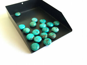6-Pieces-9mm-Calibrated-Round-Button-Natural-Tibetan-Turquoise-Cabochon-Lot-TR4