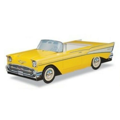 1957  YELLOW CHEVY CENTERPIECES for BOOMERS-NEW