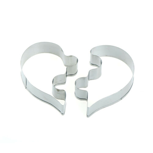 2x Love puzzle Metal Cutter moule pour DIY gâteau de mariage pâtisserie biscuitX