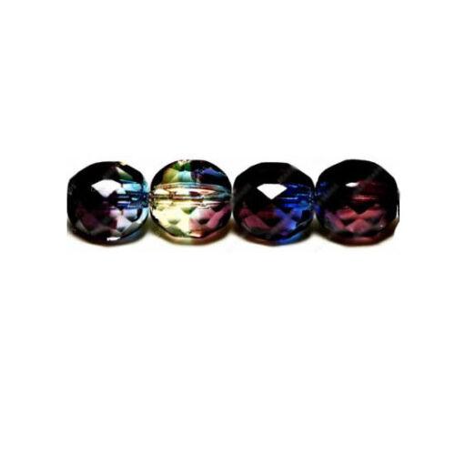 UK boutique  * 9039 Perles Verre Tchèque Rond 10 Mm Bleu Multi