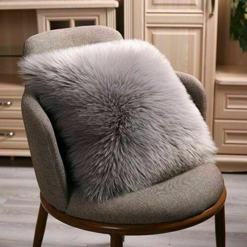 Sofa Luxus Shaggy Kunstfell Fleece Kissen Kissenbezug Faux Fell Zuhause Deko