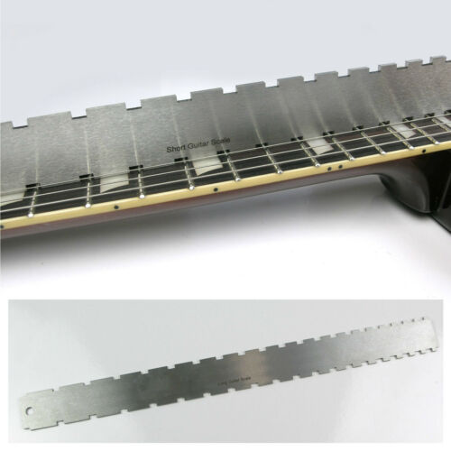 Notched Straight Edge Fingerboard Ruler Guitar Luthier Tool TO20