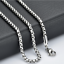 Fashion-Unisex-316L-Stainless-Steel-Round-Box-Chain-Necklace-Hot-Gift thumbnail 1