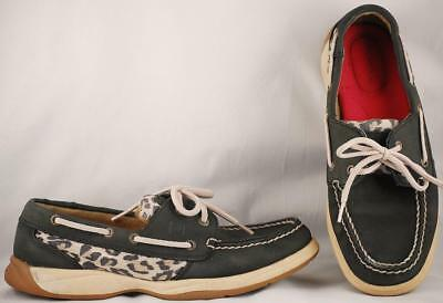 Women's Sperry Top-siders Black Leather Billfish Boat Shoes 7.5 M Elegant And Graceful Comfort Shoes Women's Shoes
