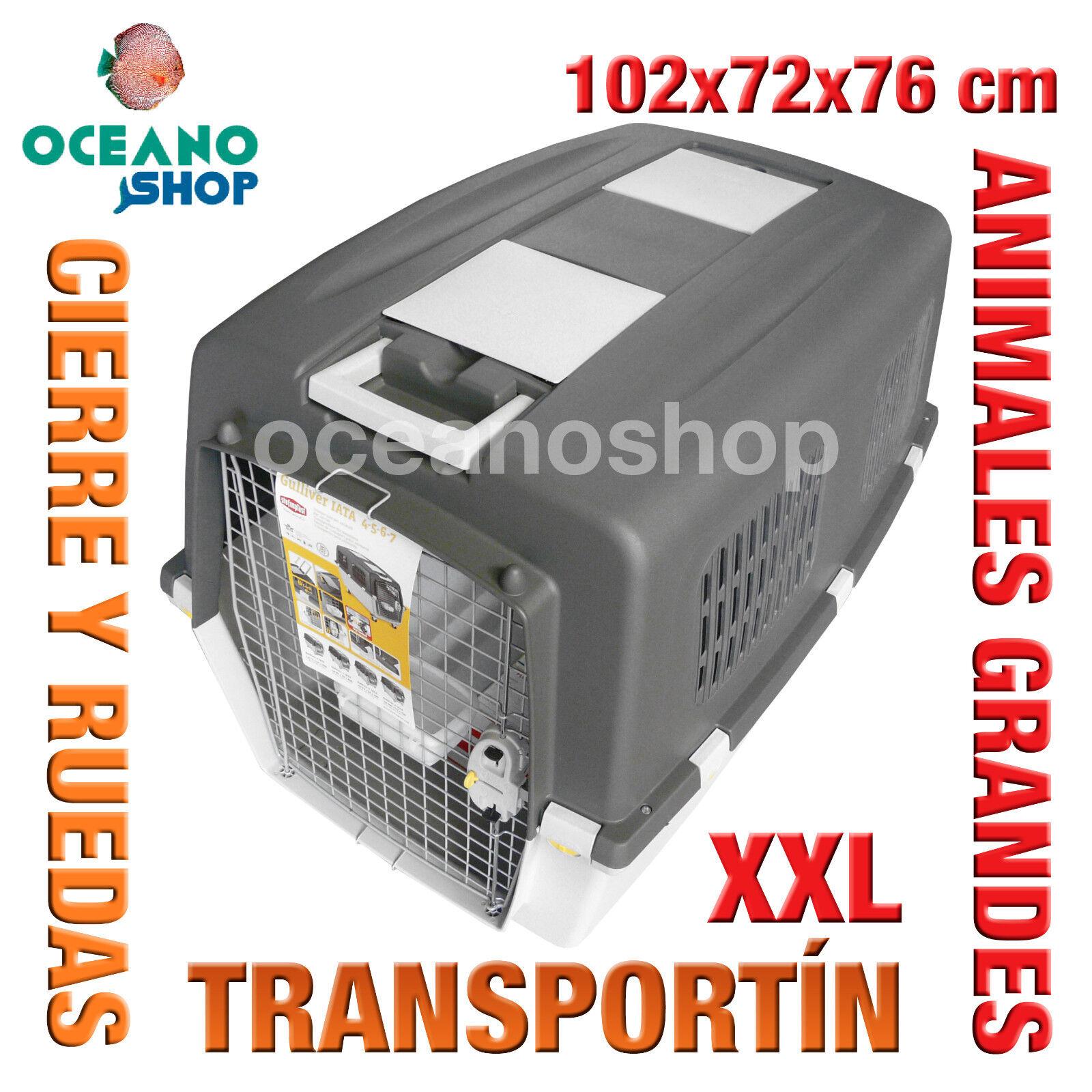 TRANSPORTIN ANIMALES GRANDES XXL RUEDAS CIERRE SEG Y ASA 102x72x76 cm L551...