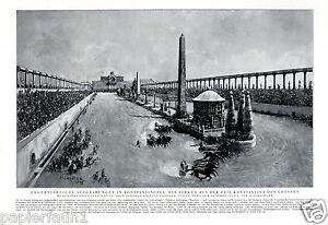 Zirkus Konstantin der Große Kunstdruck v. 1928 Forestier Rom Wagenrennen Ben Hur