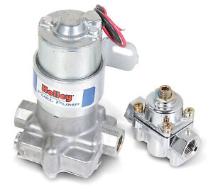 Holley-12-802-1-110-GPH-039-Blue-039-Electric-Fuel-Pump-With-Regulator