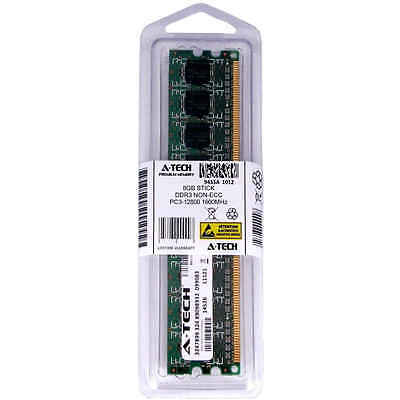 Atech 8GB DIMM DDR3 Desktop PC3-12800 12800 1600MHz 1600 240-pin Ram Memory