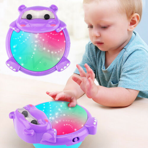 Baby Multi Functional Double Pat Drum Musical Toy with Lights and Sounds