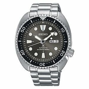 Seiko-Turtle-SRPC23-Gray-Dial-Automatic-Diver-039-s-Watch-SRPC23K1
