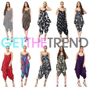 9c10a21a082 Women Harem Jumpsuit Baggy Lady Romper Beach One Dress Play-Suit V ...