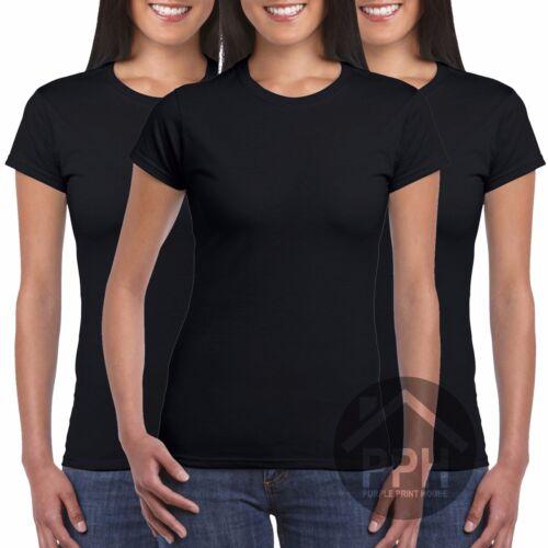 3 Pack Gildan Softstyle Ladies T Shirt Womens Tshirt Plain Wholesale Workwear