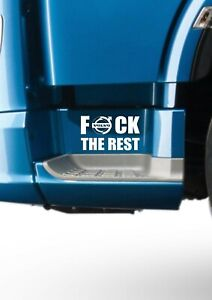 F-CK-THE-REST-VOLVO-STICKER-X2-VOLVO-FH12-FH16-FM-GLOBETROTTER-HAULAGE-DRIVER