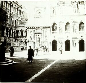 ITALIE-Venise-Cathedrale-c1900-Photo-Stereo-Grande-Plaque-Verre-VR9L7n3