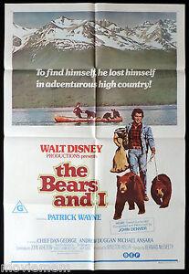 THE-BEARS-AND-I-Original-ONE-SHEET-Movie-Poster-Disney-David-Wayne