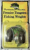 Durhams Tackle- Premier Tungsten Flipping Weight 1/2oz Green Pumpkin (2 Pack)