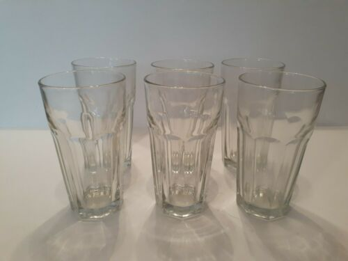 Set of 6 Libbey Duratuff Gibraltar 22oz Glasses Made In USA Iced Tea Beer Drink