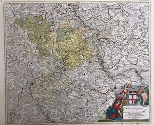 Map Of Germany And Luxembourg.Details About 1710 Antique Map Homann Map S W Germany Luxembourg Mosel River