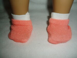 1-pair-Ankle-Socks-Doll-Clothes-Fits-American-Girl-Peach-White
