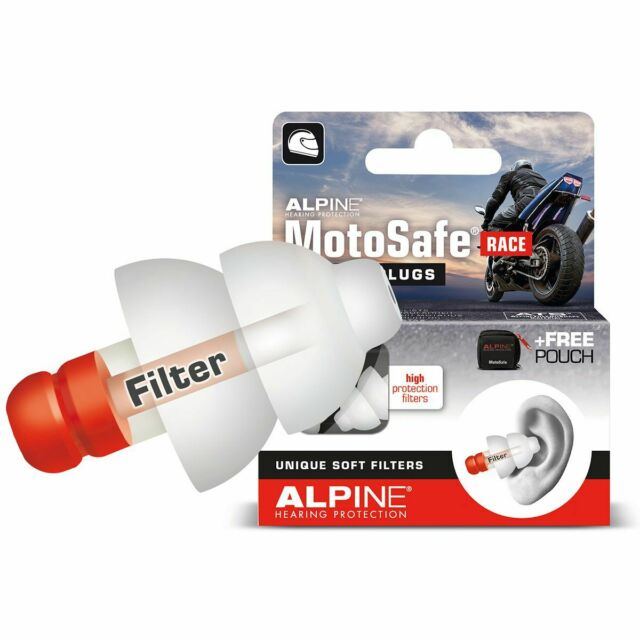 Alpine Motosafe Gara : Tappi Orecchini / Protezione Udito Motocicletta