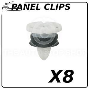Clips Garniture Bodyside clips 8 mm nissan qashqai Pack 12 numéro de pièce 12591