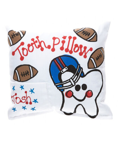 """Personalized /""""Football Tooth/"""" Tooth Fairy Pillow"""