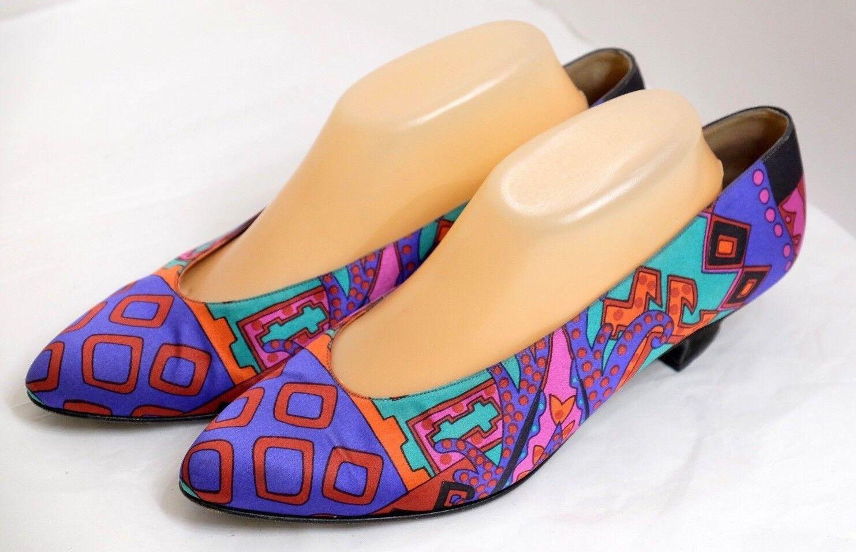 VGUC Bruno Magli Women's Size 10B Brilliant & colorfully Artistic Silky Heels