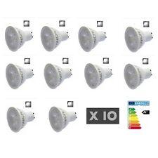 10 AMPOULE LED GU10 5W 6000K BLANC FROID 400 LUMENS