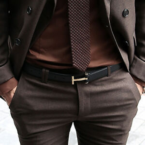 ByTheR-Men-039-s-Solid-Black-Leather-Strap-Classic-Simple-T-Shape-Buckle-Suit-Belt