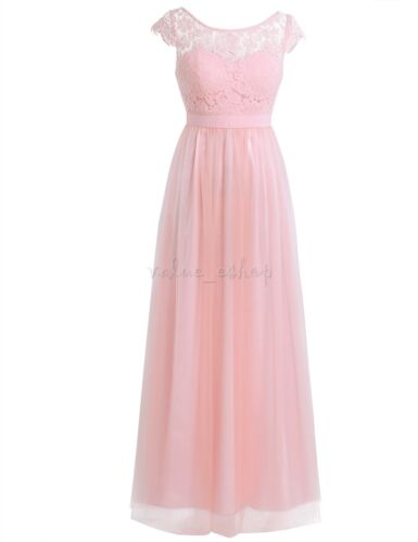 Women/'s Retro Lace Formal Evening Prom Cocktail Party Bridesmaid Wedding Dress