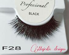 2D Real Mink Eyelashes Makeup Thick Black Eye Lashes #F28