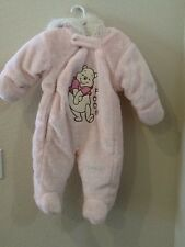NWT Disney Winnie the Pooh Baby Girl Bunting Snow Suit Size 6-9 Months Faux Fur