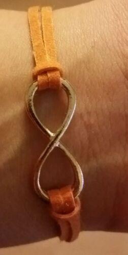 Unendlichkeits Armband in Orange Unendlich Forever Bracelet Endless Geschenk