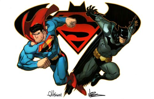 SUPERMAN BATMAN #25 ART PRINT Signed by ED McGUINNESS /& DEXTER VINES