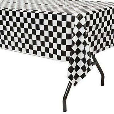Checkered Flag Table Cover - Race Car Themed Birthday Party Supplies