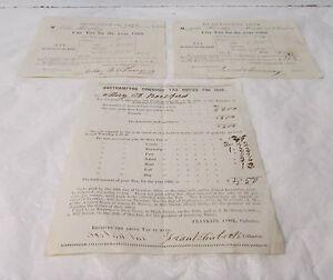 1866 ~ 1869 ~ 1868 ~ City Tax Documents