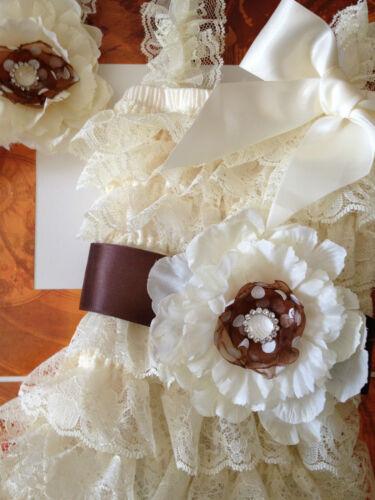 Vintage Girl Posh Petti Ruffle Romper headband belt Custom order available