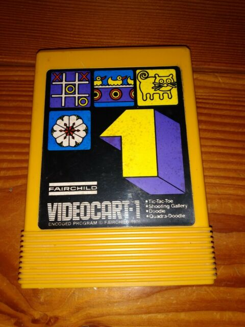 Fairchild VideoCart 1 Tic-Tac-Toe / Shooting Gallery / Doodle (1976)