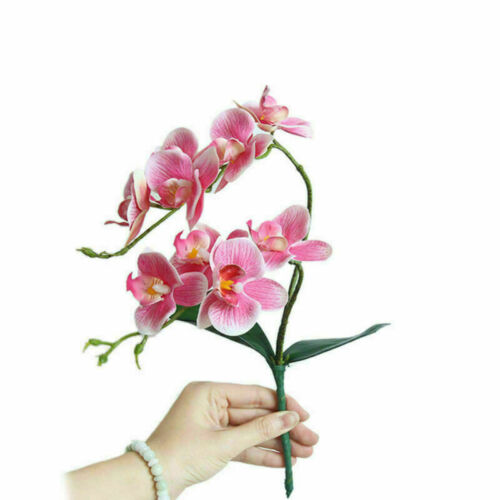 Flower Home Phalaenopsis Bouquets Fake Flowers Orchid Butterfly Artificial Decor