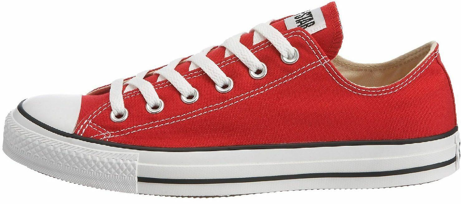 Converse Chuck Taylor All Star Red Boots White Lo Unisex Trainers Boots Red 733b00