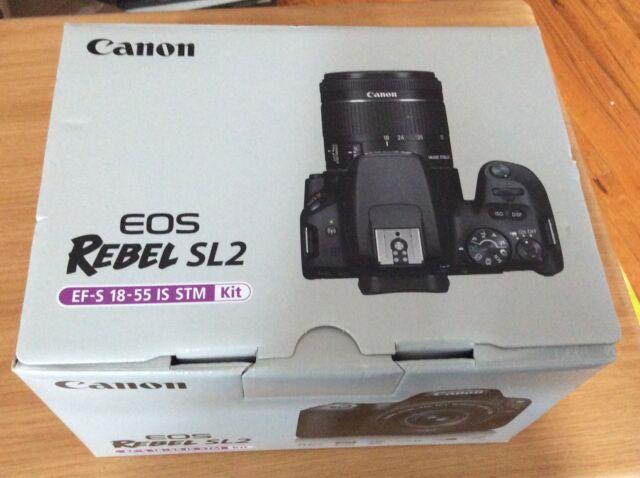 Canon EOS Rebel SL2 DSLR Camera with 18-55mm Lens kit Black - brand new sealed!