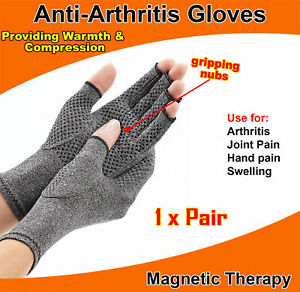 Magnetic-Arthritis-Gloves-Soft-Compression-Hand-Therapy-Support-Sore-Finger