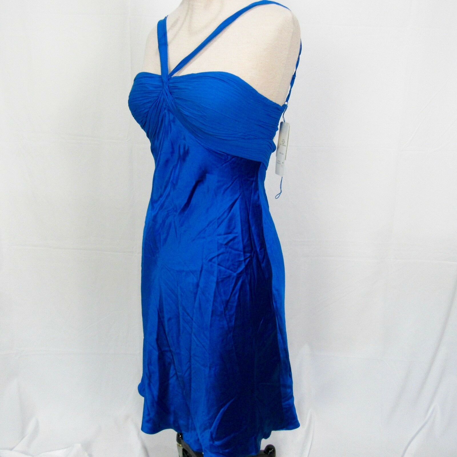 Adrianna Papell damen Blau Evening Sleeveless Dress Größe 12 Silk Shell W28