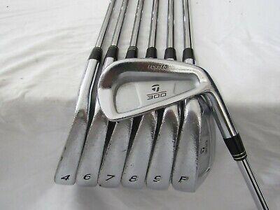 Used TaylorMade 300 Forged Iron Set 3-P (Missing #5) Stiff Flex Steel Shafts    eBay