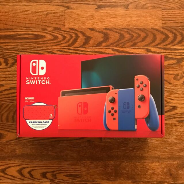 New & Sealed Nintendo Switch MARIO RED & BLUE EDITION, Red Joy-Con, In Hand