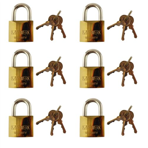 Security Lock Gate Door Shed AT089 6 x 50mm Shackle Brass Padlock