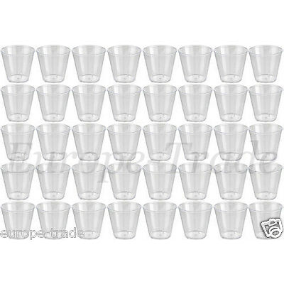 Clear Plastic Disposable Party Shot Glasses Jelly Cups Tumblers Birthday