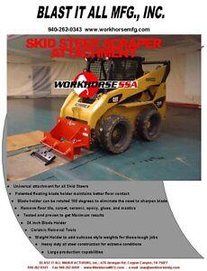 Details about Workhorse Skid Steer Floor Scraper Attachment